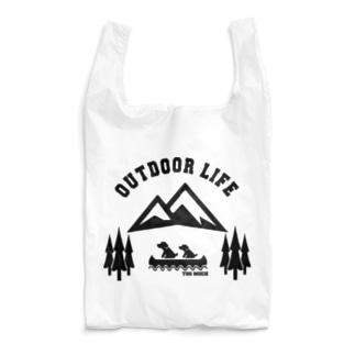 OUTDOOR LIFE黒 Reusable Bag