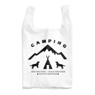 CAMPING 黒 Reusable Bag