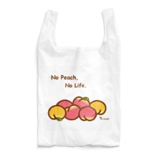 桃ゴロゴロ Reusable Bag