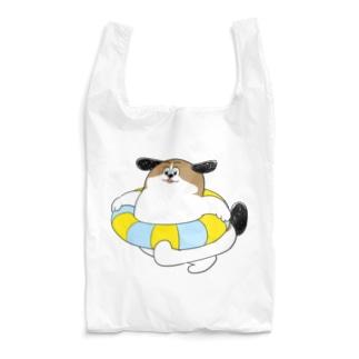 もじゃまるうきわ Reusable Bag
