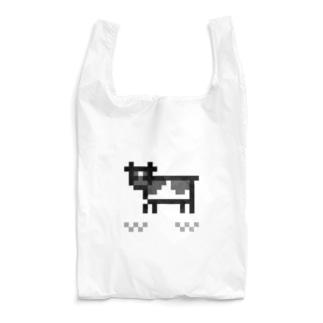 pixel cow Reusable Bag