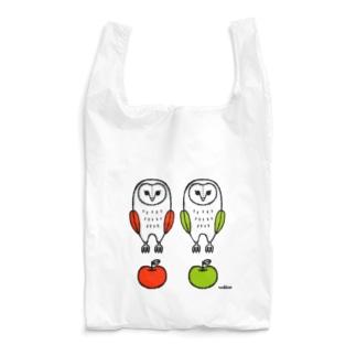 フクロウとリンゴ Reusable Bag