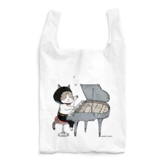 ピアノねこ Reusable Bag