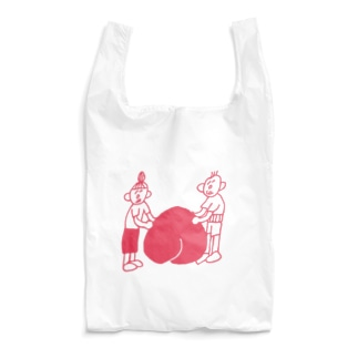 桃に寄り添うじいとばあ Reusable Bag