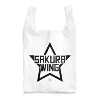 SAKURA WINGスター黒字 Reusable Bag