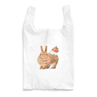 うさぎのクリームいちご乗せ Reusable Bag