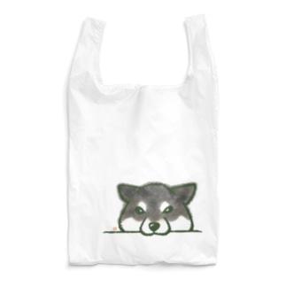 あごのせ柴(黒柴) Reusable Bag