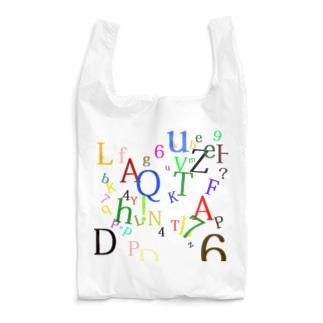 アルファベットと数字の洪水2 Reusable Bag
