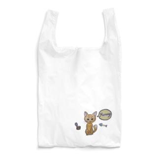 ポンポンしっぽの猫ちゃん Reusable Bag