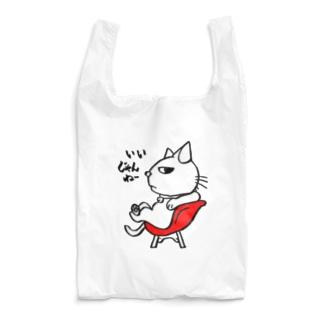 三河ねこ赤イス Reusable Bag
