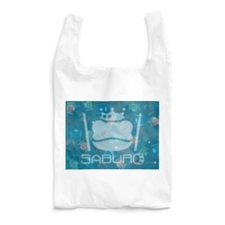 カエル ドラム スケルトンロゴonちりばめられたサブロー Reusable Bag