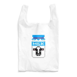 ドット牛乳 (レトロ瓶) Reusable Bag