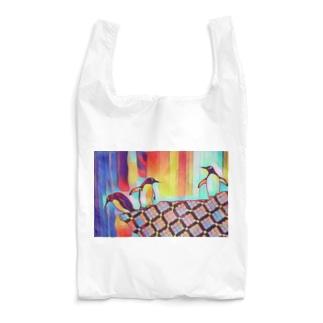 カラフル ペンギンズ Reusable Bag