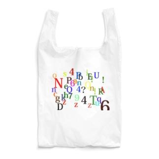 アルファベットと数字の洪水 Reusable Bag