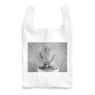 多肉植物A black and white Reusable Bag
