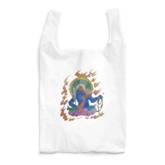 青い不動明王さん Reusable Bag