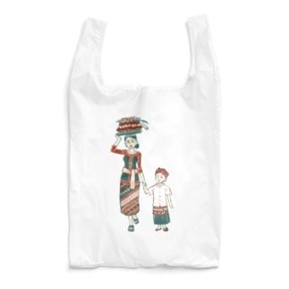 【バリの人々】お母さんと子供 Reusable Bag
