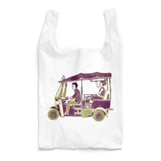 【タイの人々】トゥクトゥク Reusable Bag
