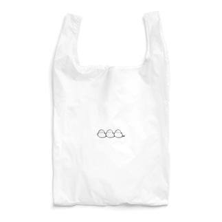 シマエナガのチュンたろー3匹ver. Reusable Bag