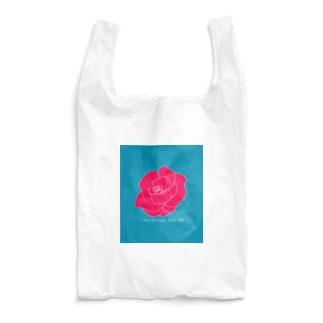 I live through daily life (バラ) Reusable Bag