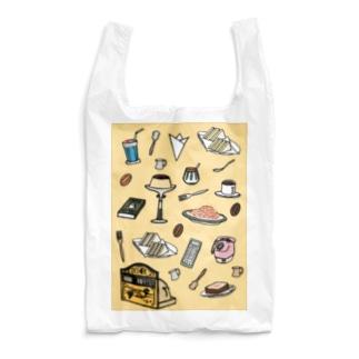 純喫茶 いろどり 背景つき Reusable Bag