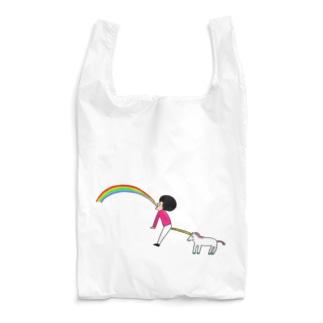 花くまゆうさくのユニコーン虹の出し方2 Reusable Bag
