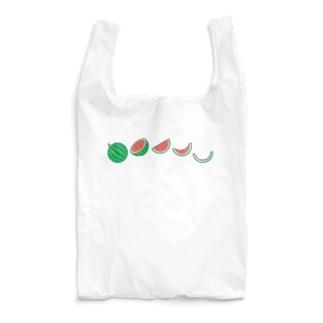 🍉スイカの満ち欠け(横) Reusable Bag