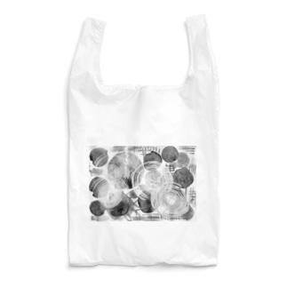 集まる円 白 Reusable Bag