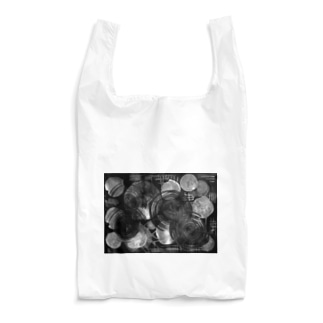集まる円 黒 Reusable Bag