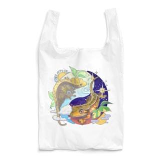クレステッドゲッコーの陰陽魚 Reusable Bag