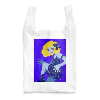セクシーな青い女 Reusable Bag