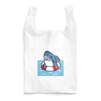 うきわでうかぶサメ Reusable Bag