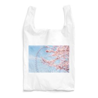 観覧車と桜。 Reusable Bag