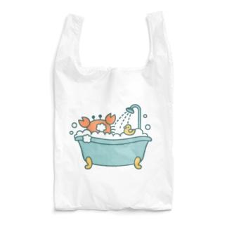 🦀泡風呂に入るカニ Reusable Bag