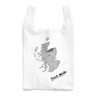 Scotch Whisky's  map (モノクロver) Reusable Bag