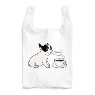 フレンチブルドッグとコーヒー Reusable Bag