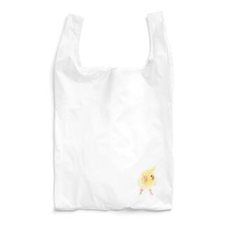 オカメインコ おすましルチノー【まめるりはことり】 Reusable Bag