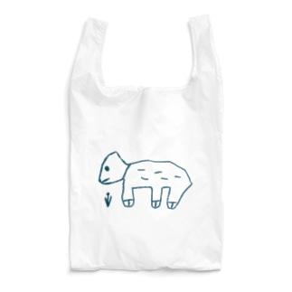 dog & flower  blue Reusable Bag