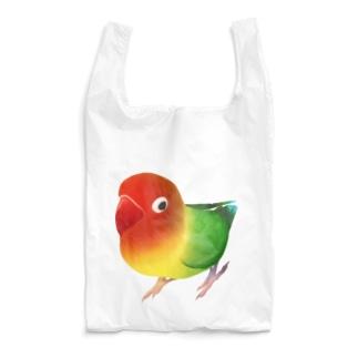 ボタンインコ おすましルリゴシボタンインコ【まめるりはことり】 Reusable Bag