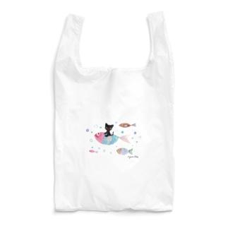 イラストレーター おおでゆかこのミニとおさかな Reusable Bag