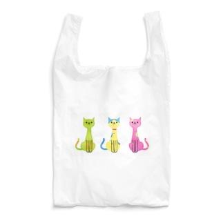 カラフル猫 Reusable Bag