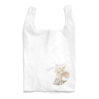 虎の威を借るウサギ(安全第一) ラウンド Reusable Bag