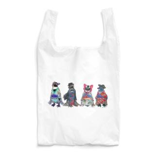 桜梅桃李-Spheniscus Kimono Penguins- Reusable Bag