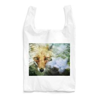 狐と紫陽花 F Reusable Bag
