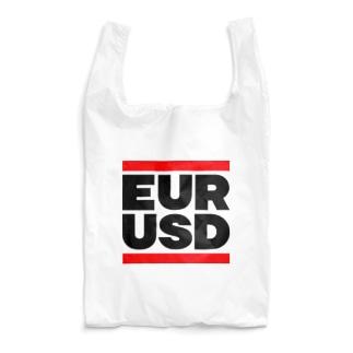 カマラオンテのユロドル ユーロドル EURUSD FX 為替 両替 RUNDMC風 黒字黒フォント 黒字の文字なのでカラーは白色がオススメです 黒色だと文字が分かりません Reusable Bag