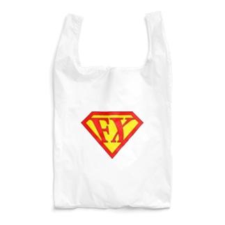 カマラオンテの「空を見ろ!」「鳥だ!」「飛行機だ!」「いや、エフエックスマンだ!」 FXマン スーパーマン パロディ ネタ 投資 トレーダー 外為 Reusable Bag