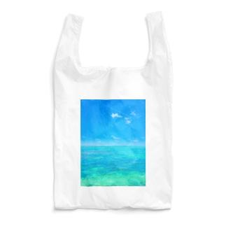 海と飛行機雲 Reusable Bag