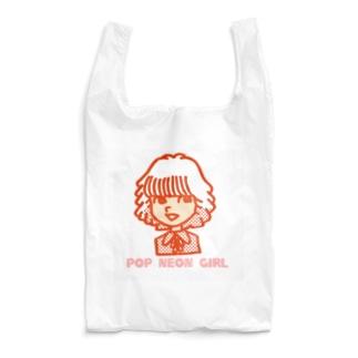 ネオンガール あか Reusable Bag