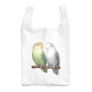 コザクラインコ モーブとオリーブ【まめるりはことり】 Reusable Bag