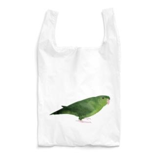 サザナミインコ グリーン【まめるりはことり】 Reusable Bag